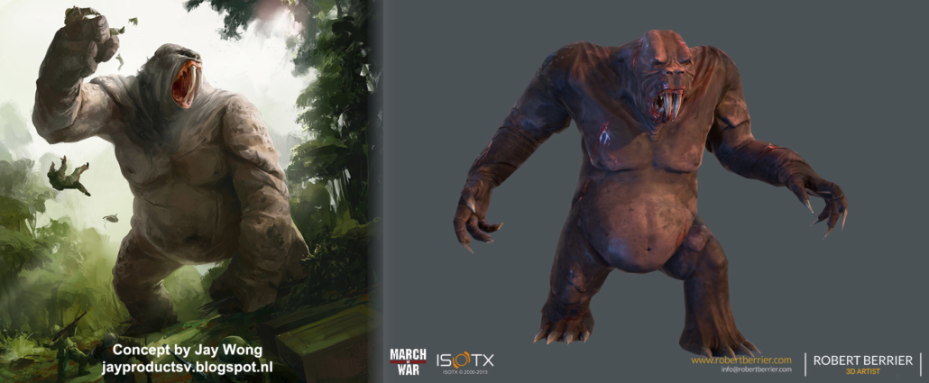 Robert Berrier - March of War - Gorilla Mole Concept