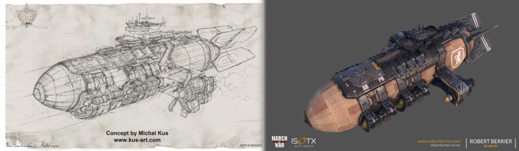 Robert Berrier - March of War - WarZeppelin Concept