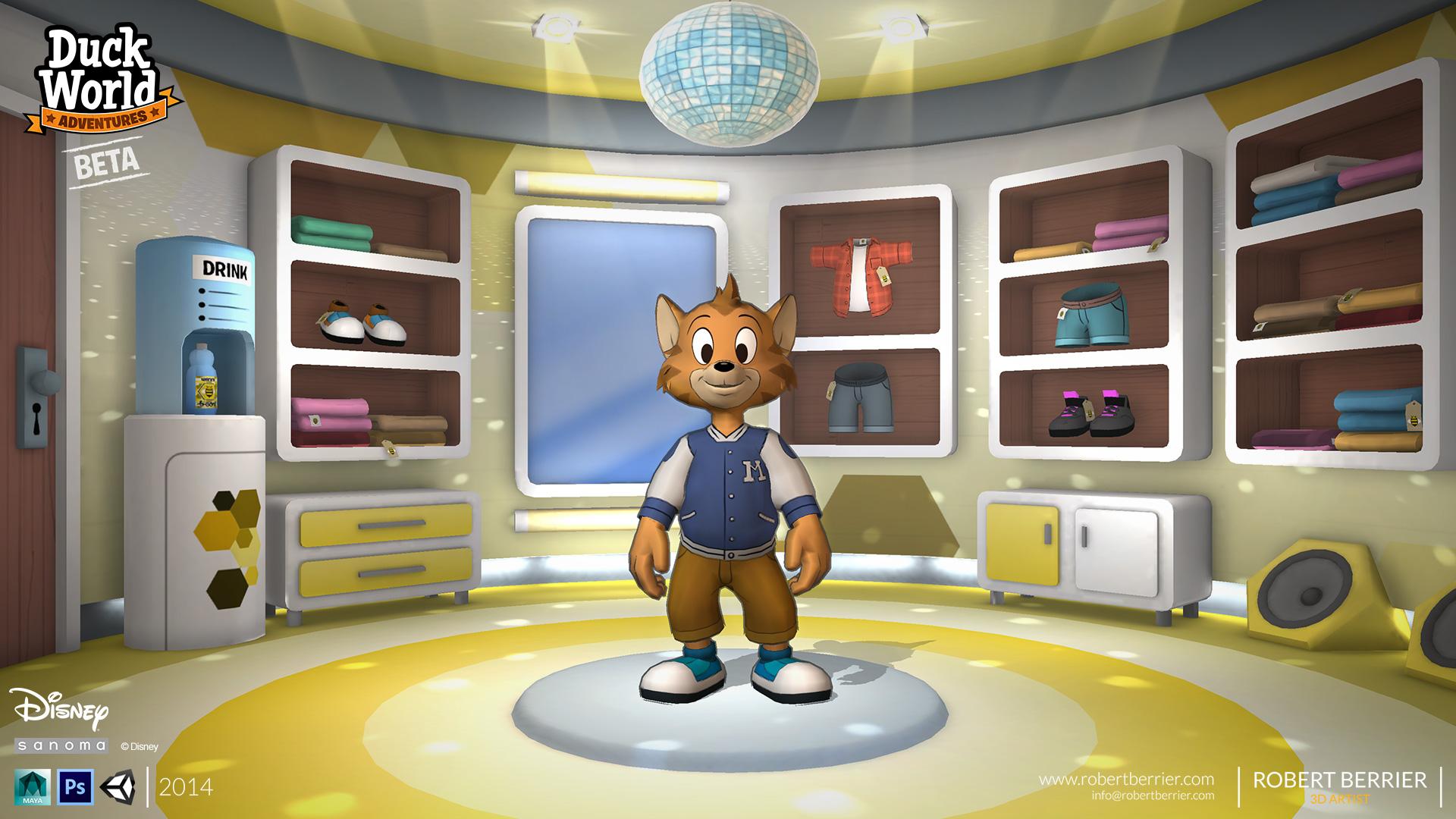 Robert Berrier - Disney - Duck World - B-cool Shop