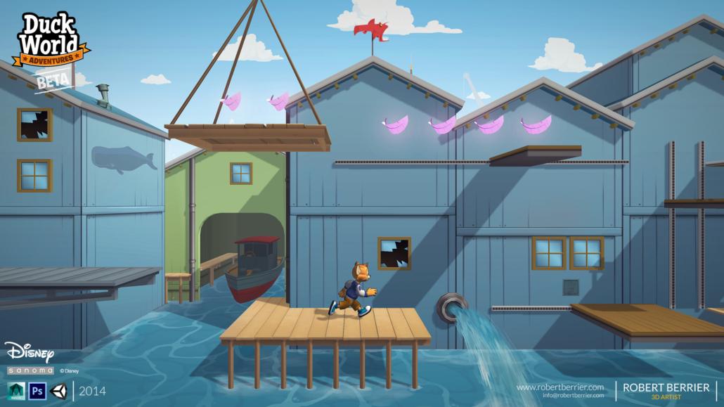 Robert Berrier - Disney - Duck World - Chase The Boat