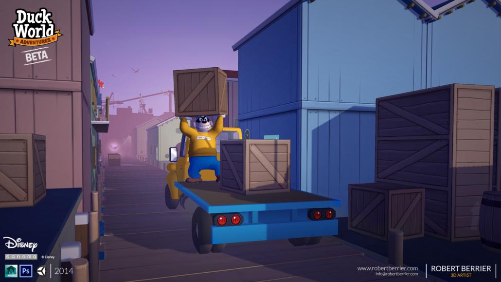 Robert Berrier - Disney - Duck World - Chase The Truck Intro