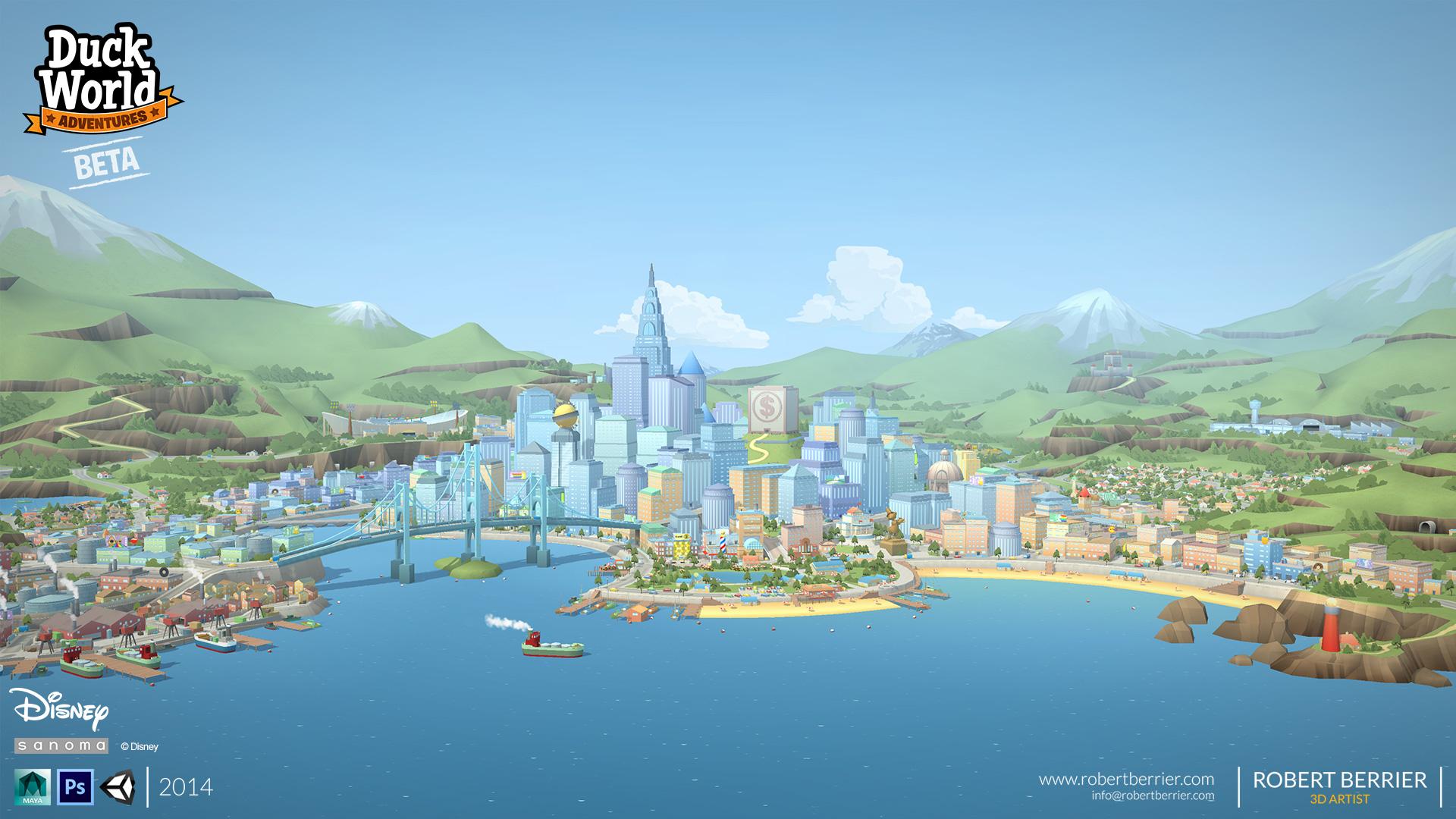 Robert Berrier - Disney - Duck World - Hub