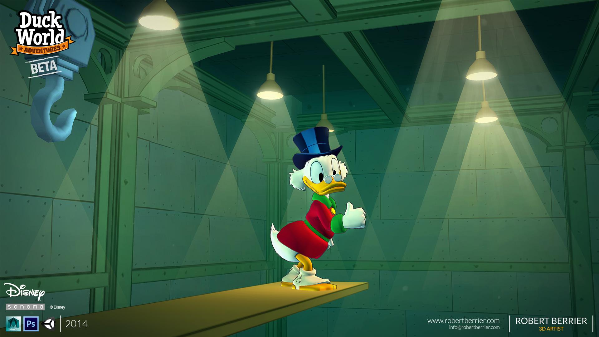 Robert Berrier - Disney - Duck World - Money Dive