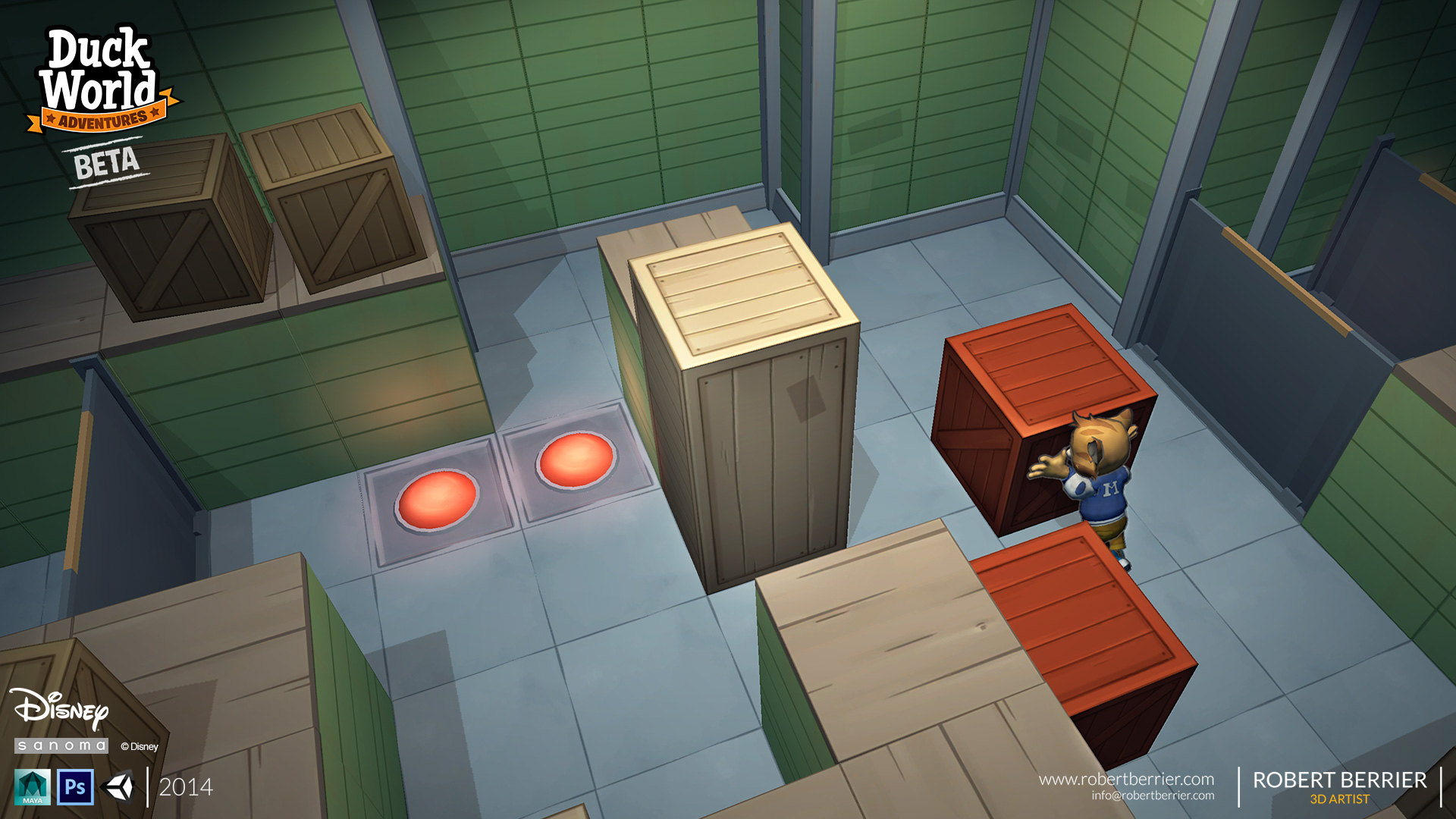 Robert Berrier - Disney - Duck World - Push The Crate