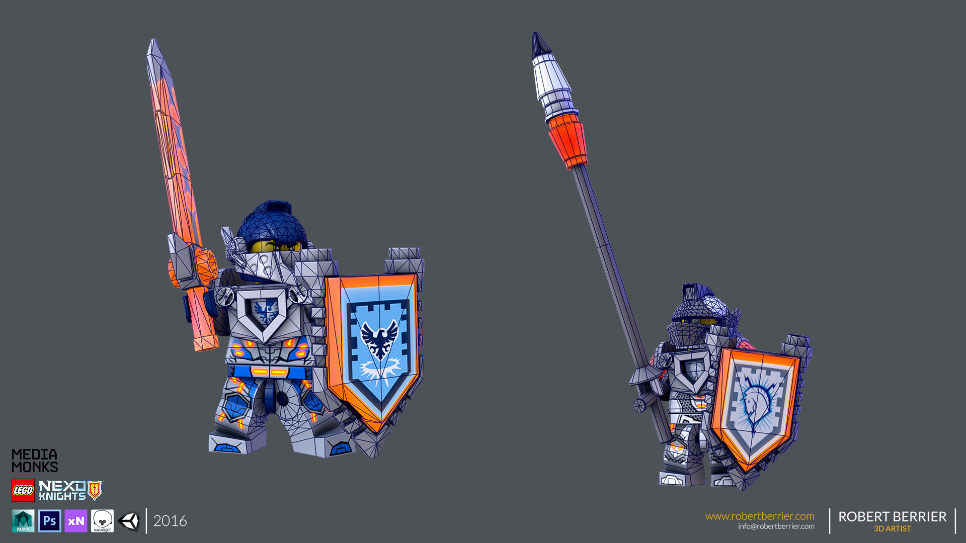 Robert Berrier - Lego Nexo Knigths - Clay Lance Wire