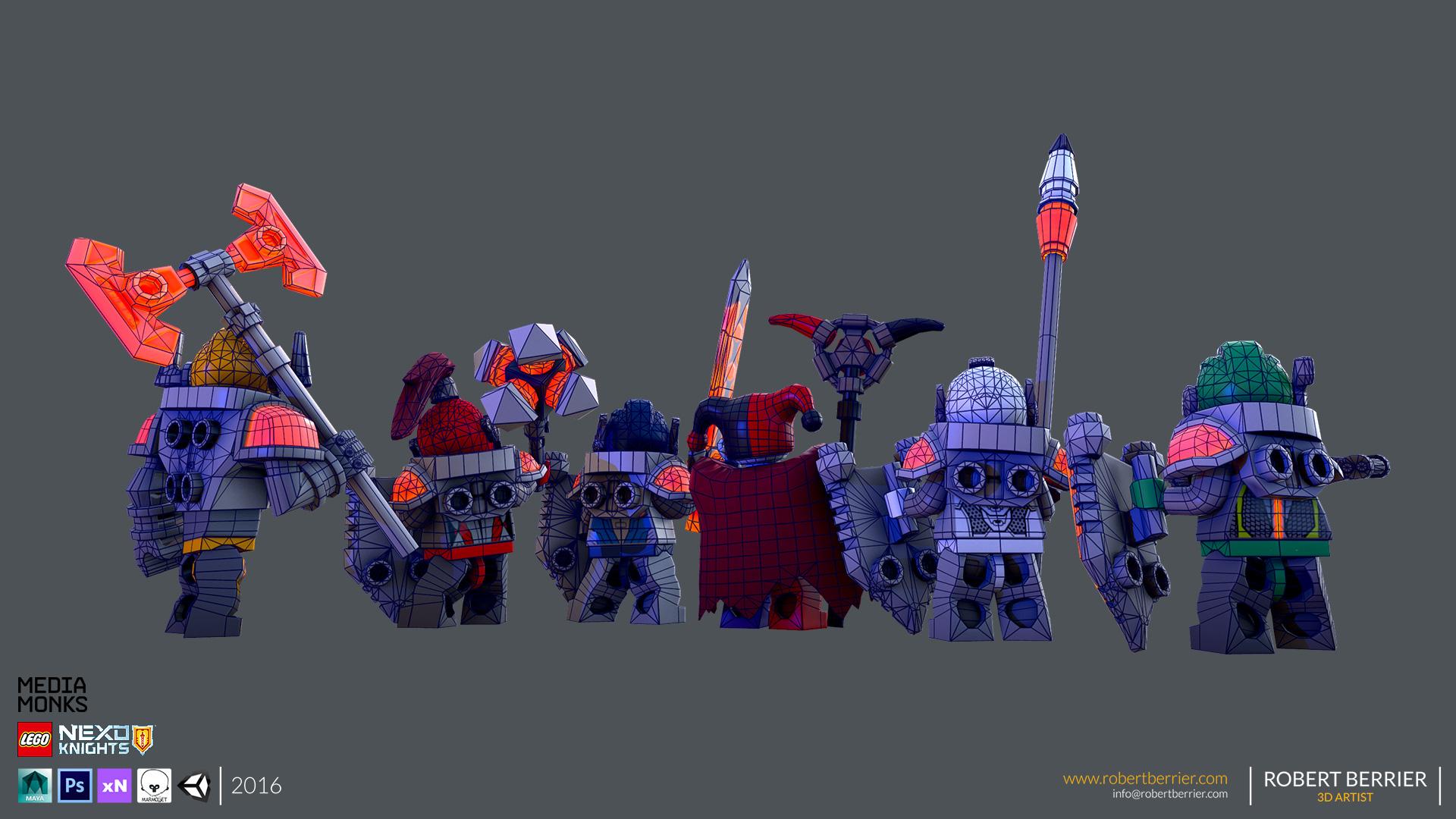 Robert Berrier - Lego Nexo Knigths - Group Back Wire