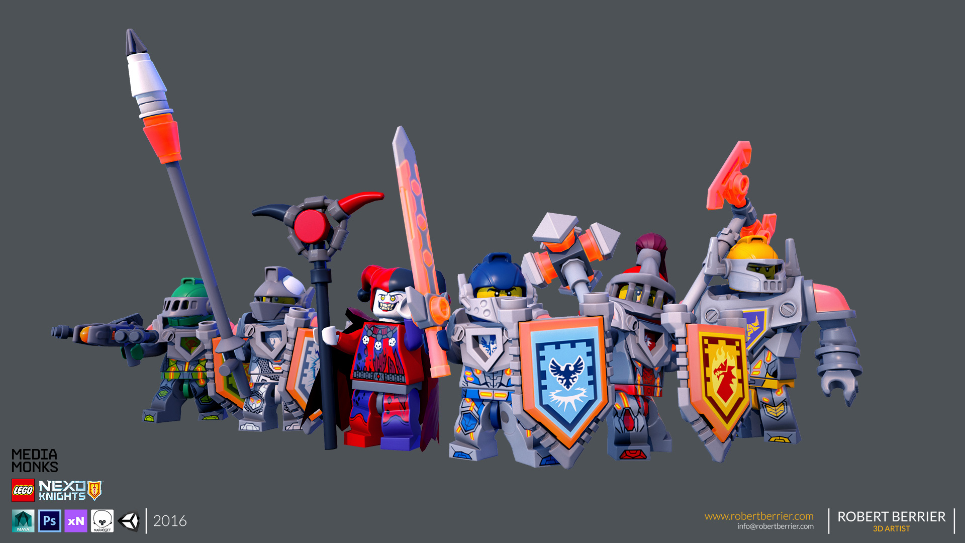 Robert Berrier - Lego Nexo Knigths - Group Front
