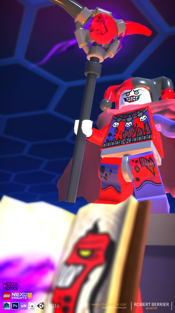 Robert Berrier - Lego Nexo Knigths - In game Jestro