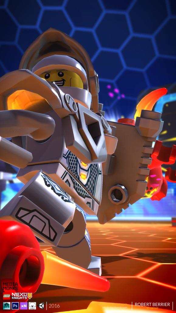 Robert Berrier - Lego Nexo Knigths - In game Lance
