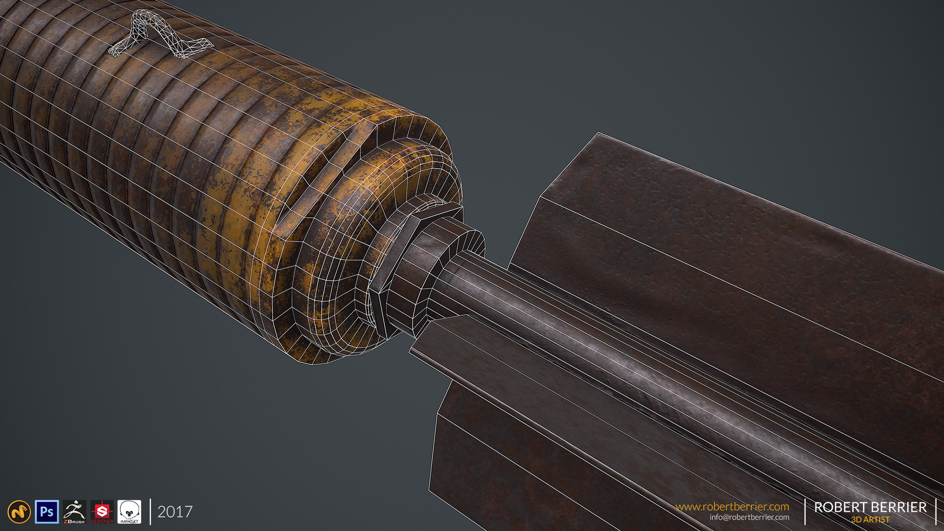 Robert Berrier - D Day Fragment Bomb 06 wire